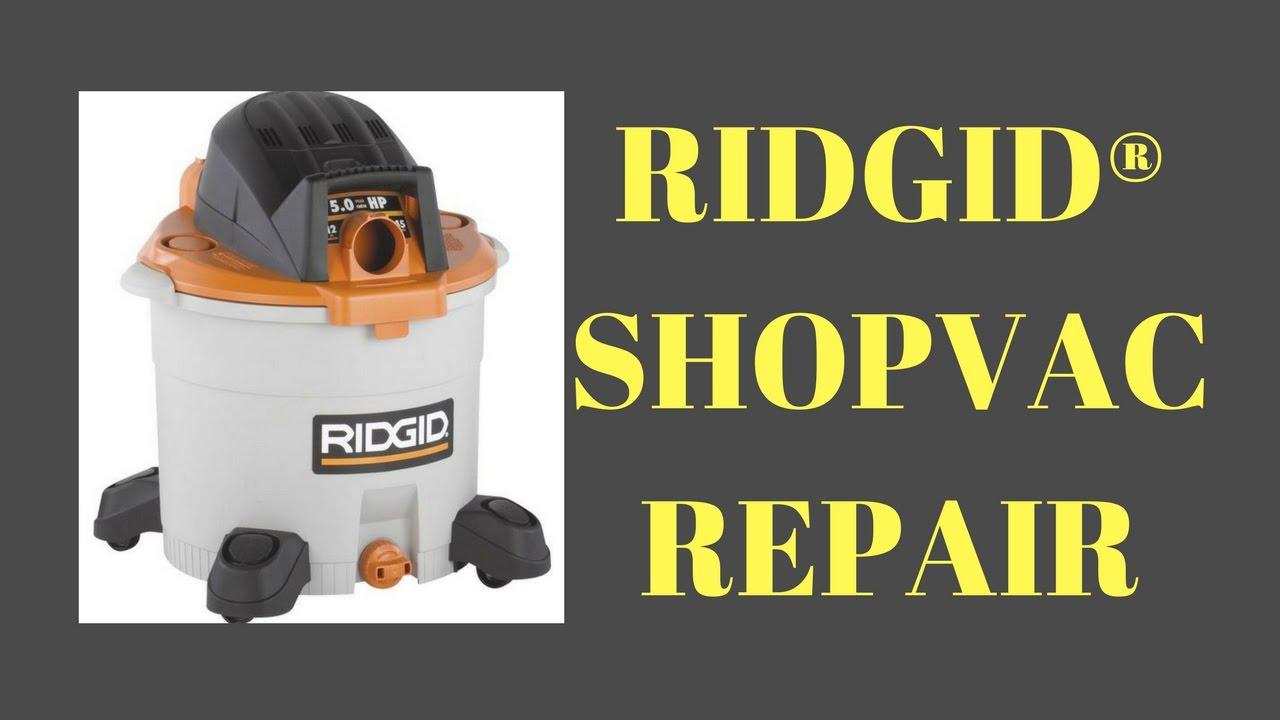 ridgid shop vac repair / how to replace plug on a power cord