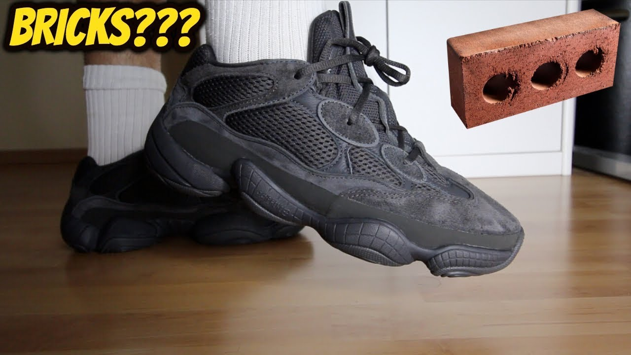 los angeles 779e6 777a6 BRICKS?!? ADIDAS YEEZY 500 UTILITY BLACK REVIEW/ON FOOT
