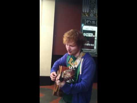 Ed Sheeran teaching Alexander Little Bird