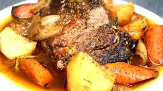 How To Make Real Jamaican Pot Roast Beef - Bake Bag (oven ) Recipe