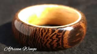 Cincin Kayu, African Wenge Wood Ring, Xilem Handmade
