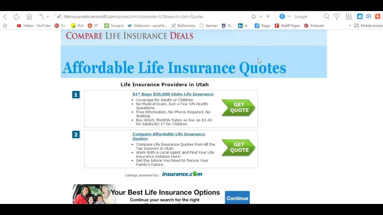 Senior Life Insurance Quote Elderly Life Insurance 70 No Medical  Youtube