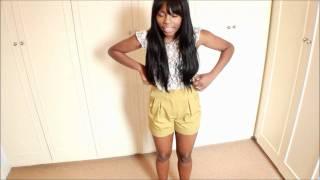 how i wear shorts hotpants denim high waist tailored