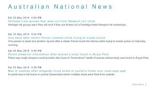National News Headlines for 25 May 2019 - 6 PM Edition