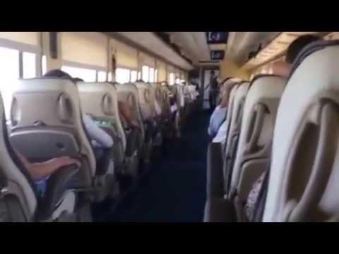 brand new train between Tashkent and Andijon in Uzbekistan