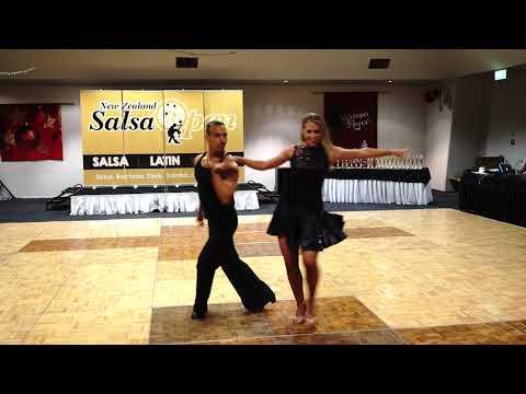 43   Giancarlo Johansson and Heidi Cone – Latinissimo   Open Latin Couples  – NZSO 2017