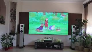 Xiaomi Mi Mijia Laser Projection TV 150″  on 100 inch ultra short throw screen
