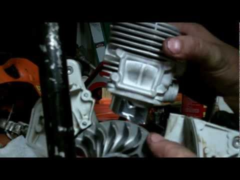 PART 3    STIHL TS420 TOP END ENGINE REBUILD