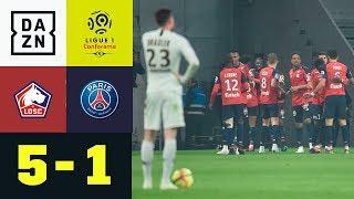 Debakel für Thomas Tuchel: Lille - Paris St.-Germain 5:1 | Ligue 1 | Highlights | DAZN