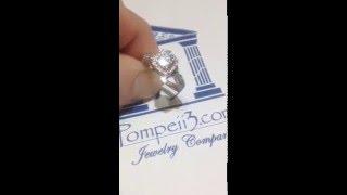 Pompeii3 1.00CT Cushion Halo Diamond Infinity Engagement Ring 14K White Gold