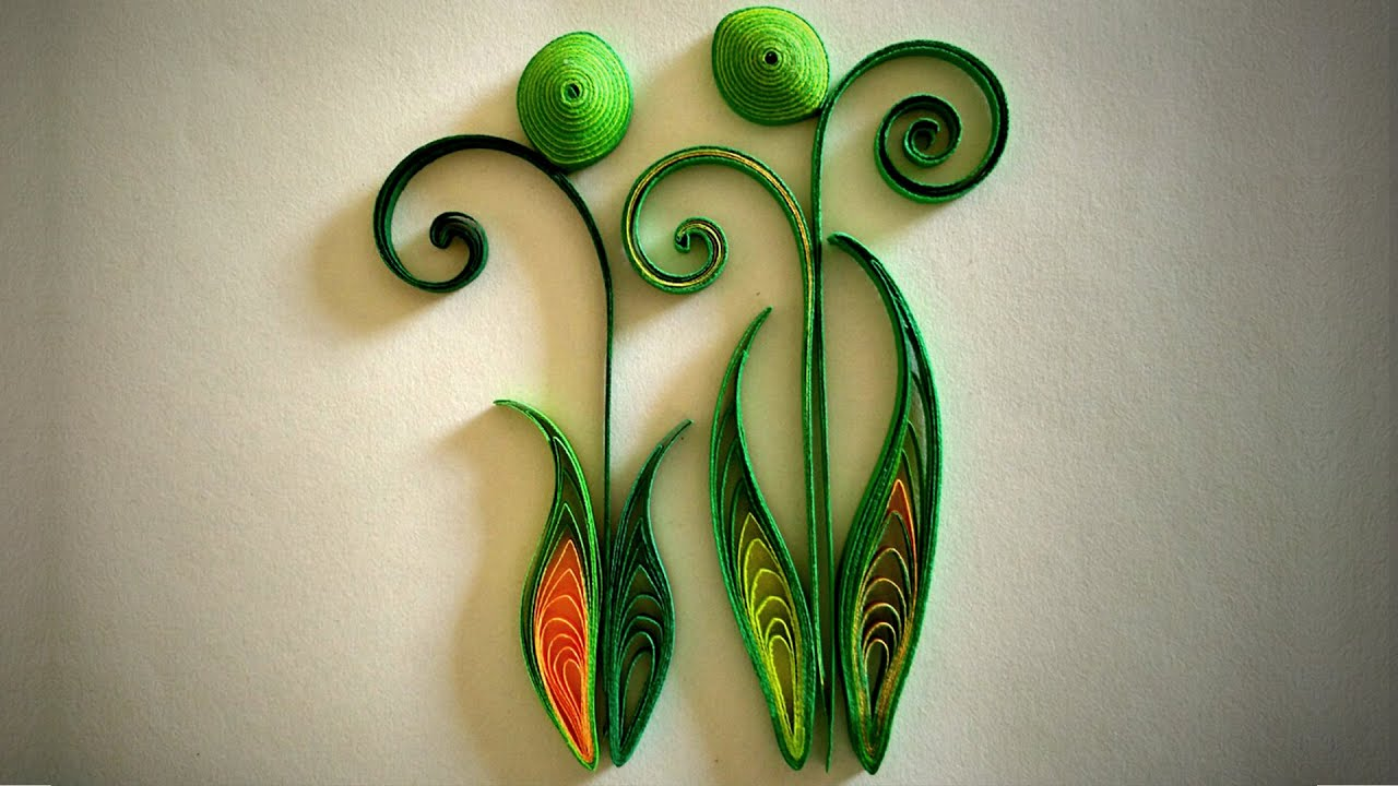 How to make quilled leaves using paper art quilling part for How to make something with newspaper