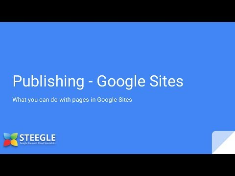New Google Sites - Publishing