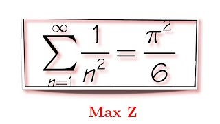 Proof by intuition done by Leonhard Euler, sum of 1/n^2, (feat. Max)