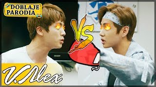 BTS - JIN VS V - Doblaje Parodia - V.Alex YouTube Videos