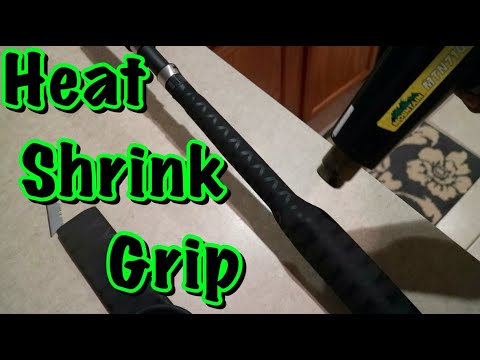 How To Put A Heat Shrink Grip On Fishing Rod