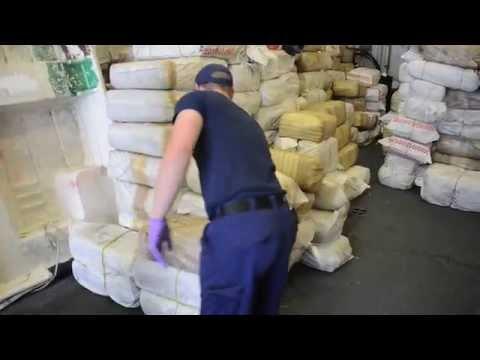 Coast Guard offloads 12,000 pounds of seized marijuana