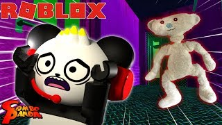 BEAR CHASE ! ESCAPE THE EVIL BEAR IN ROBLOX! Let's Play Roblox BEAR with Combo Panda