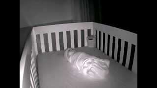 Baby Sleeping In Crib On Dec 4, 2012