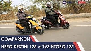 Hero Destini 125 vs TVS NTorq 125 Comparison Review
