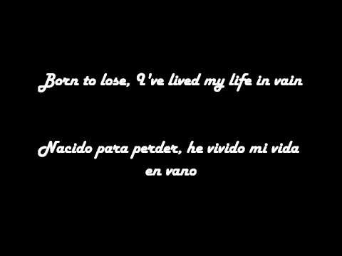 Ray charles - Born to lose (Lyrics Español- Ingles )