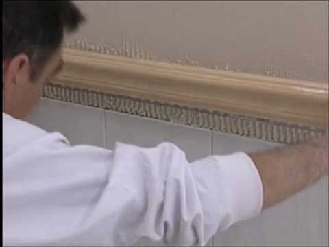 Colocaci n de moldura decorativa como remate de azulejos - Zocalos para paredes ...