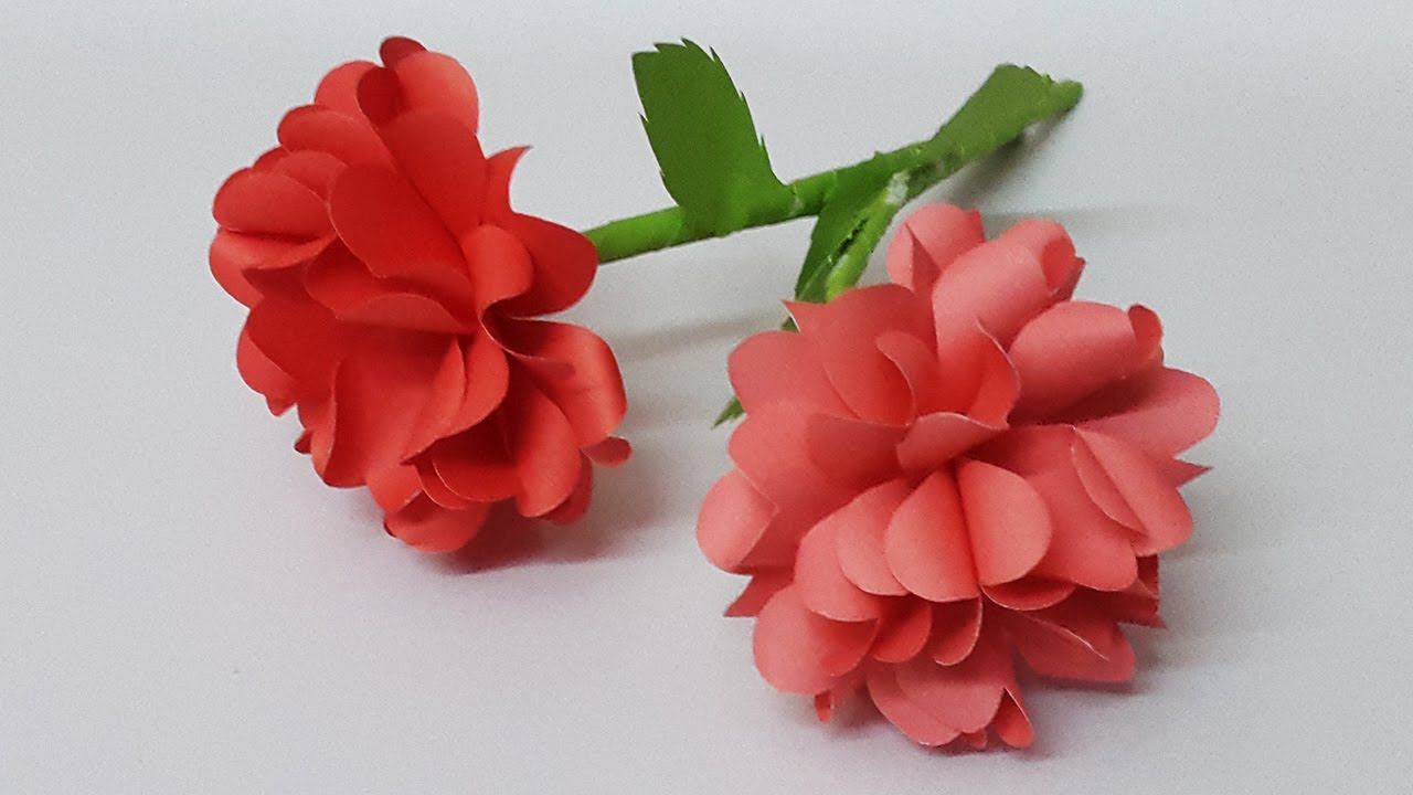Simple and Beautiful Paper Flowers Instruction for Home Decor | Paper Craft