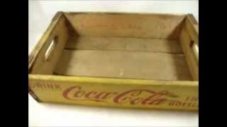Wooden Coke Coca-cola Soda Bottle Crate
