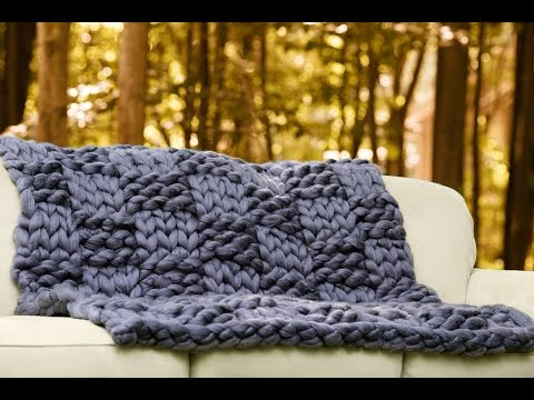 How to hand knit Basket weave pattern with super chunky vegan yarn with BeCozi