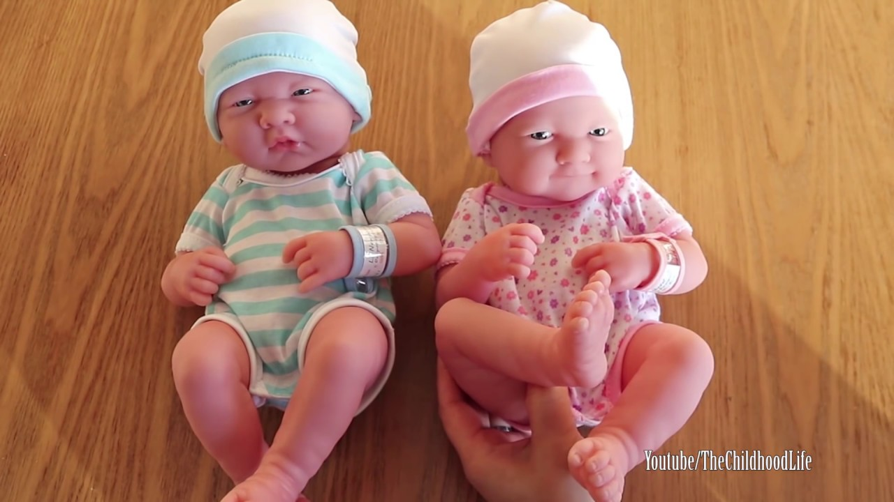 La Newborn Baby Born And Girl Baby Dolls Unboxing Play