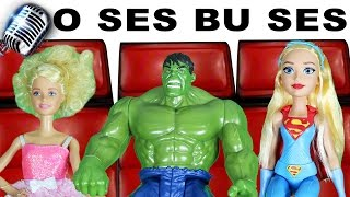 O Ses Bu Ses Yarışma 1.Bölüm   Jüri: Barbie DC Superhero Girls Hulk   EvcilikTV