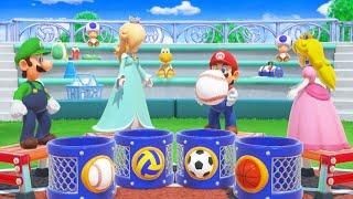 Super Mario Party - All Logical Thinking Minigames - Luigi Vs Mario Vs Rosalina Vs Peach