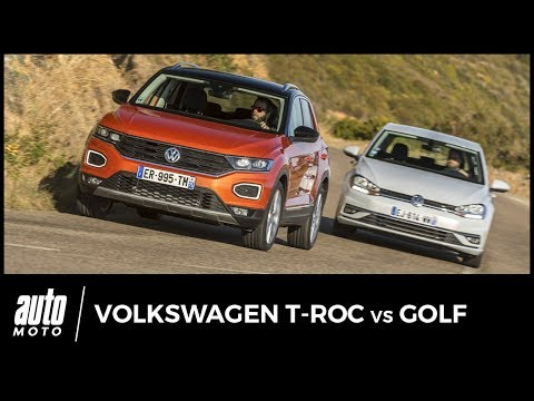 Volkswagen T Roc vs Volkswagen Golf l ombre d un doute avis, essai, tarifs...
