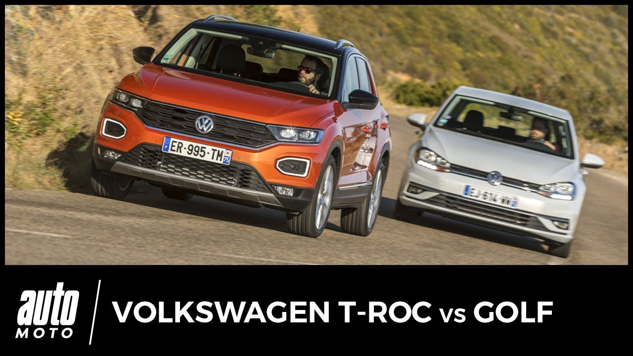 volkswagen t roc vs volkswagen golf l 39 ombre d 39 un doute avis essai tarifs youtube. Black Bedroom Furniture Sets. Home Design Ideas