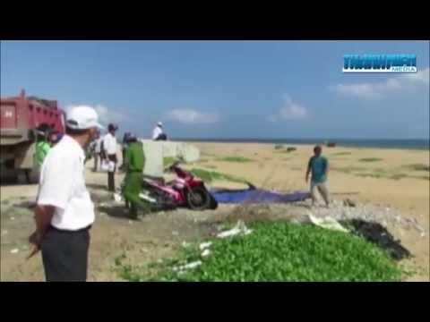 Cảnh sát môi trường bắt quả tang DN khai thác cát bờ biển Tuy Hòa