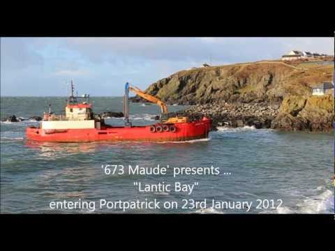 """Lantic Bay"" entering Portpatrick Harbour"