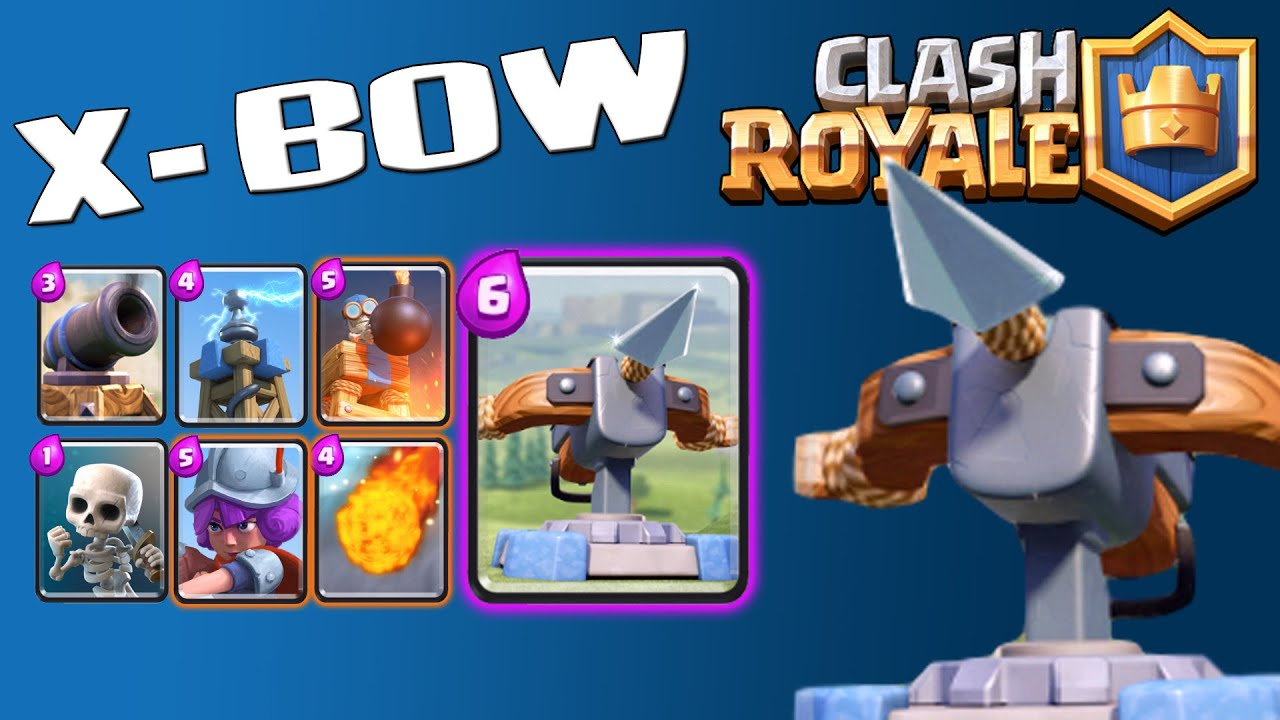 X bow too strong clash royale battle decks ep 14 x for Clash royale deck arc x