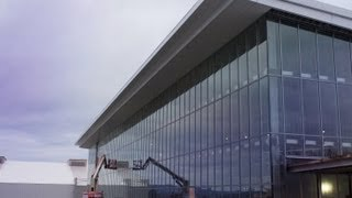 Pegula Ice Arena advance tour - Entrance and Ice Floor