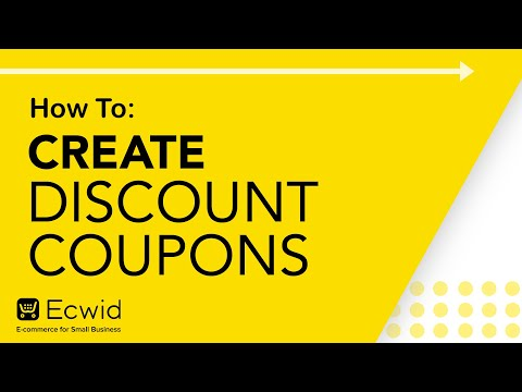 How to: Create discount coupons – Ecwid E-commerce Support