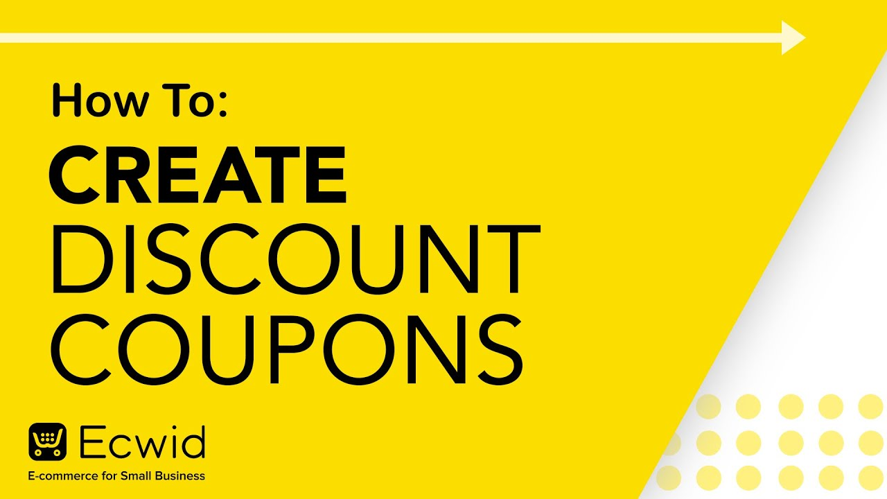 Discount Coupons Ecwid Help Center