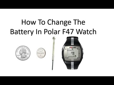How To Change The Battery In Your Polar Ft4 Watch Youtube