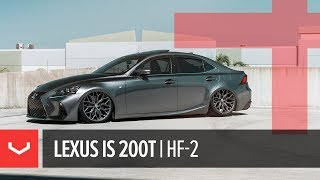 Vossen Hybrid Forged HF-2 Wheel | Lexus IS 200t | Tinted Matte Gunmetal