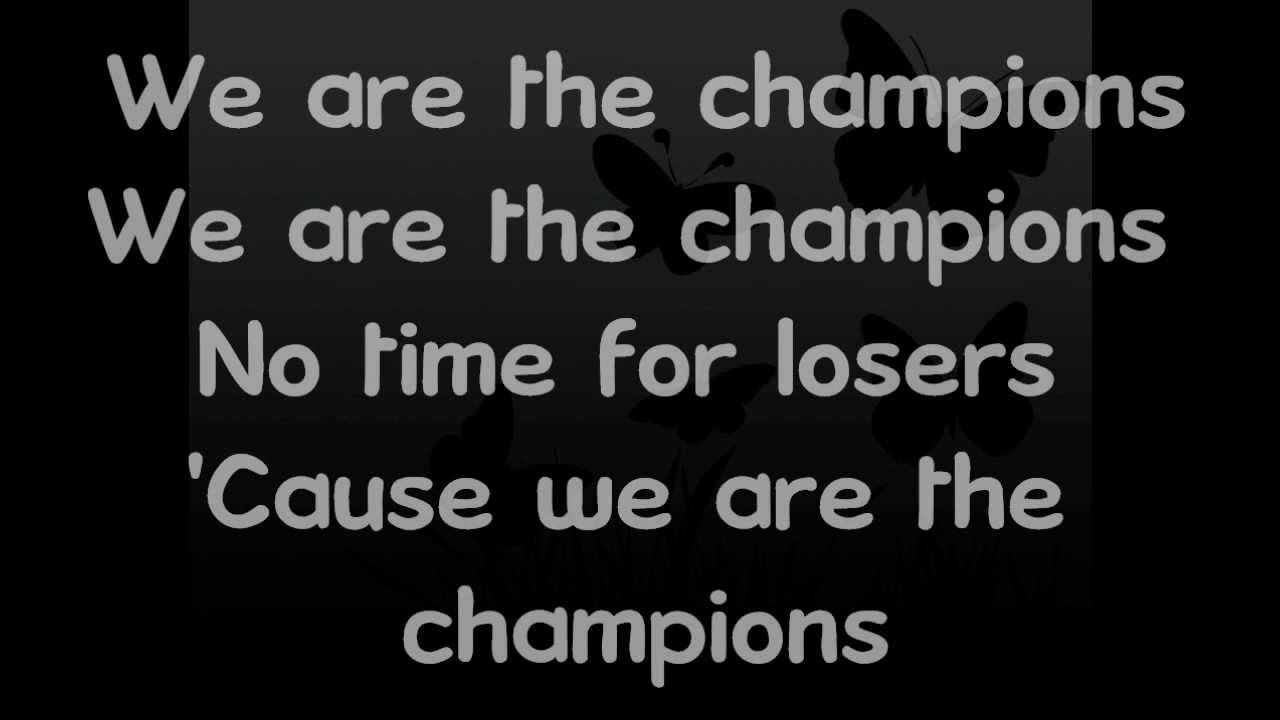 We Are The Champions || Lyrics - YouTube