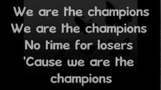 We are the champions covered by finn, puck, santana, rachel, kurt and quinn. on screen lyrics. i own nothing. (c) 2012 twentieth century fox film corporation...