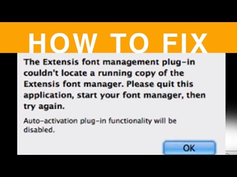 The Extensis font management plug-in couldn't locate a running copy of the Extensis font manager.