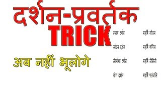 bhartiye darshan trick hindi, school of indian philosophy founder trick hindi,