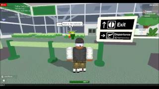 In the airport with Trey on roblox