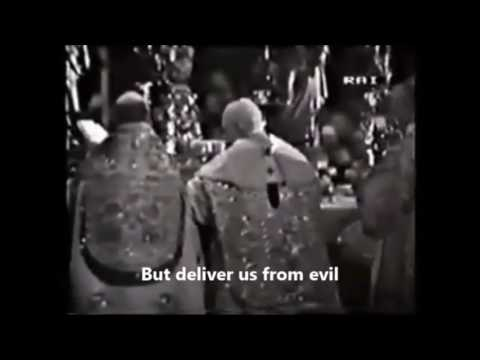 Pope John XXIII Sings The PATER NOSTER (1958)