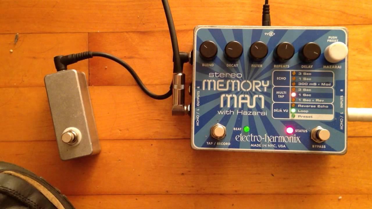 Stereo Memory Man w/ Hazarai loop record mod - YouTube