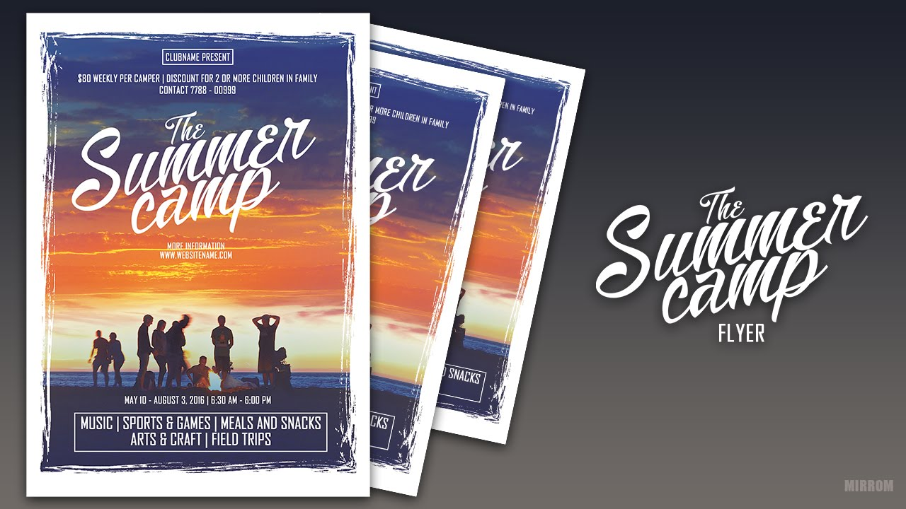 create a minimalist event flyer in photoshop