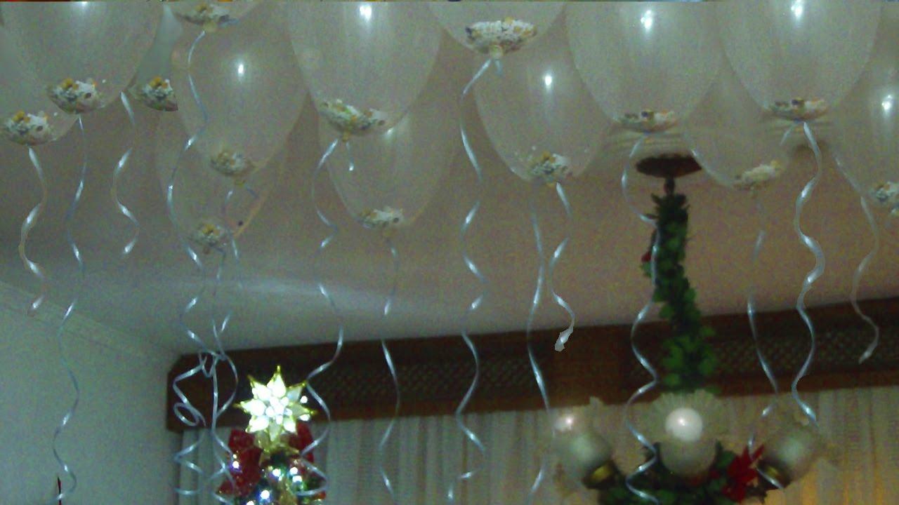 Decoraç u00e3o de festa com balões Má Patchwork YouTube -> Decoração De Festa Com Balões No Teto